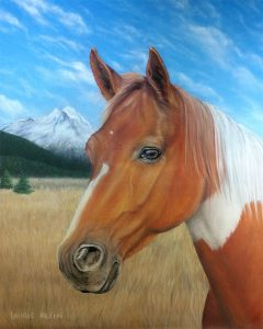 Paint Horse Portrait