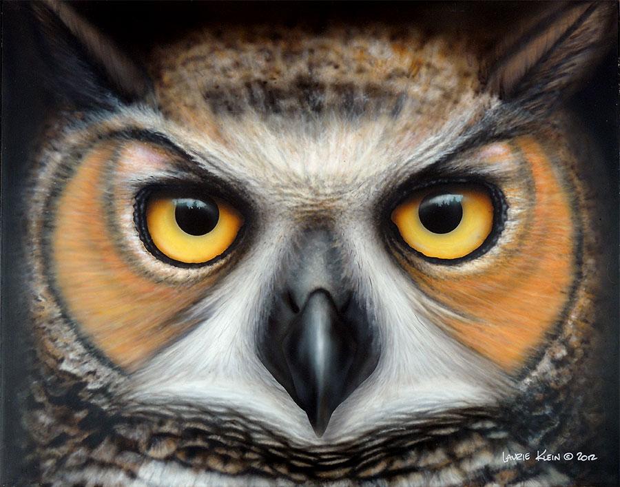 Seeker - Great Horned Owl Portrait